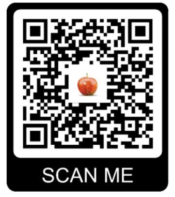 QR code naar de fruitkaart