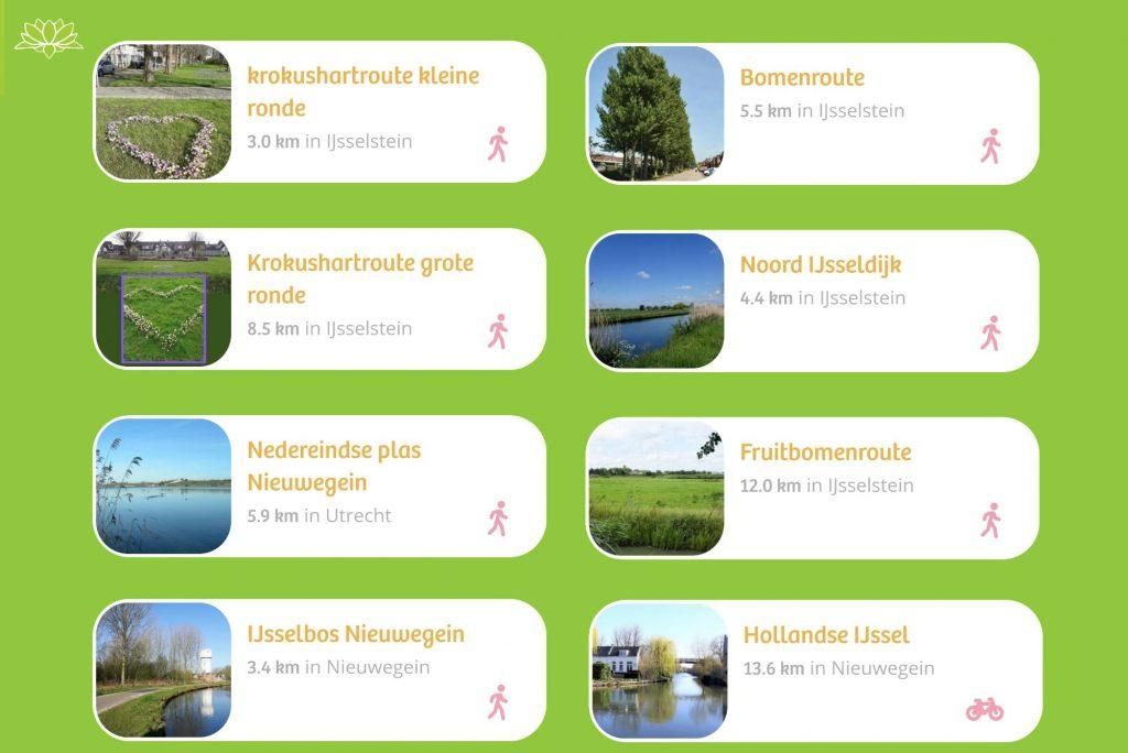 IJsselsteinse routes in de IVN route app