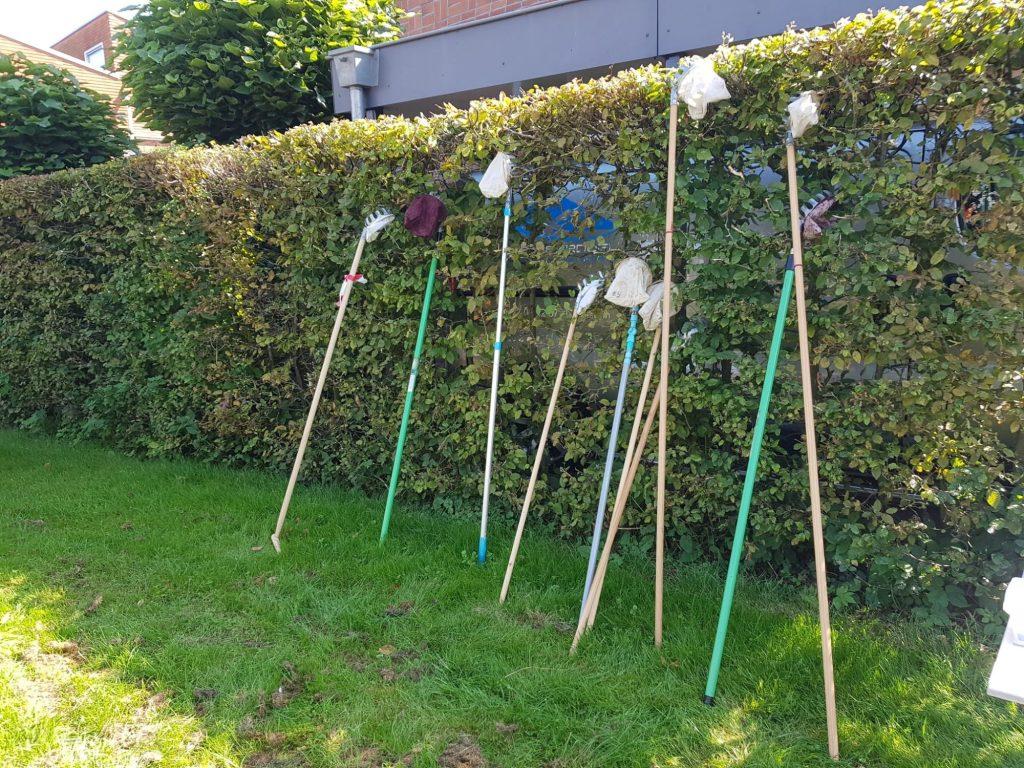 Appelplukkers op een rij, foto Eetbaar IJsselstein